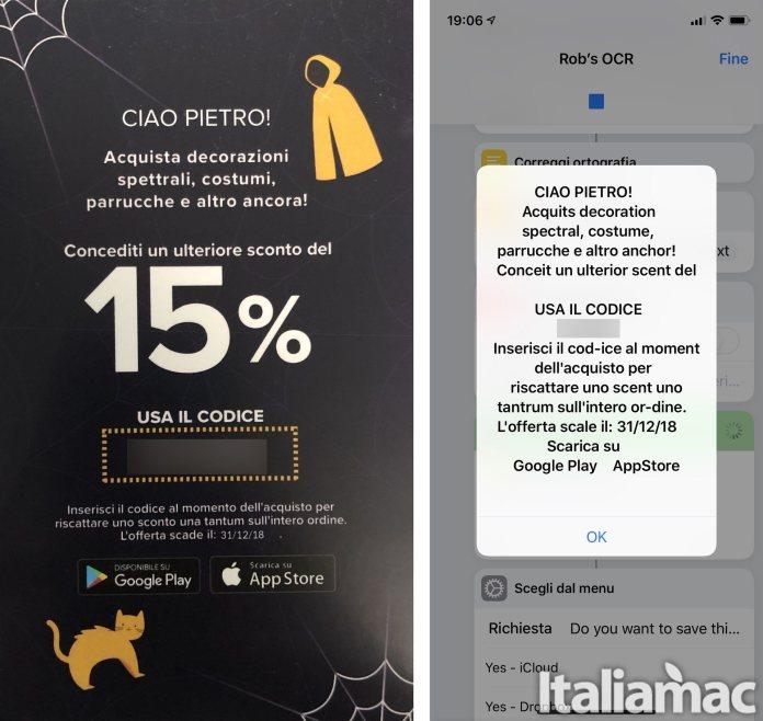 italiamac ocr shortcut OCR: Riconoscimento dei caratteri con una shortcut