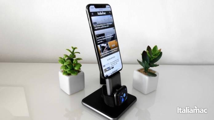 italiamac vertical stand pic HiRise Duet: Lelegante stand per caricare Apple Watch e iPhone di Twelve South