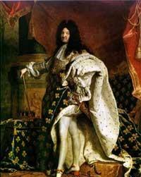 Luiz XIV, o Rei Sol, na França