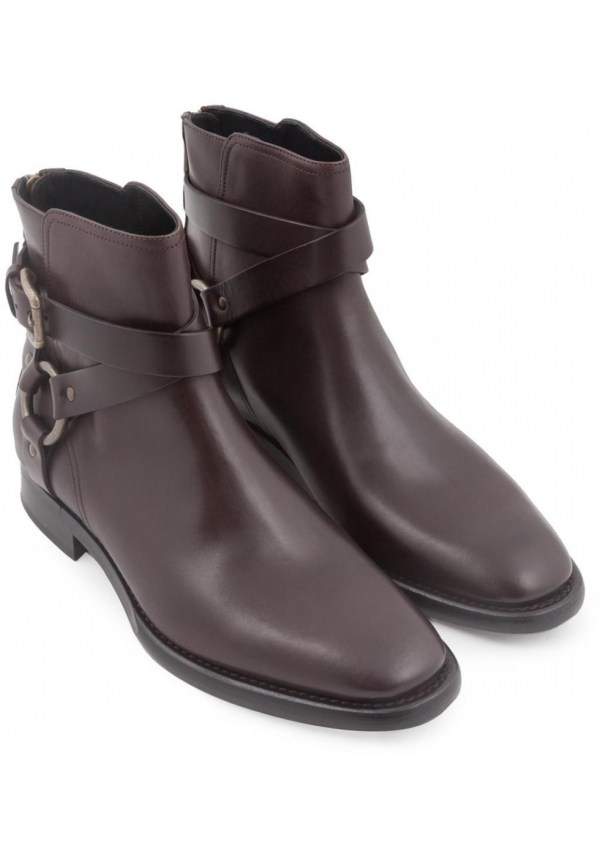 Dolce&gabbana Men' Boots In Ebony Calf Leather