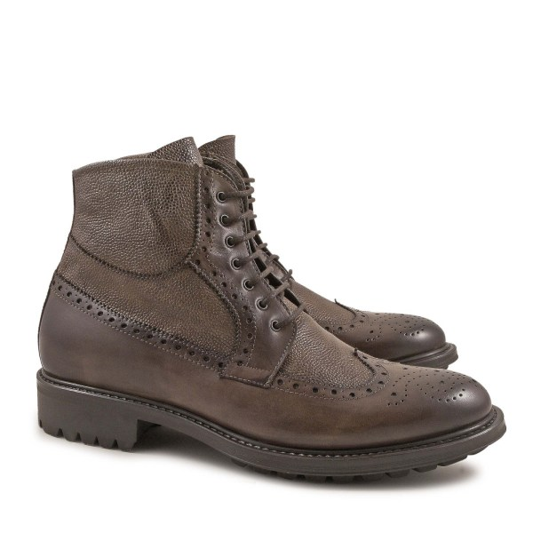 Handmade Oxfords Brogues Lace- Ankle Boots Shoes Italian