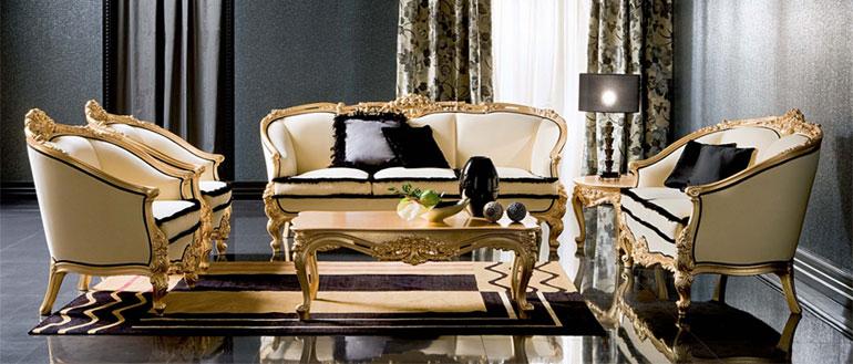 living room wall units with storage 7 piece set silik classic furniture - italian design interiors