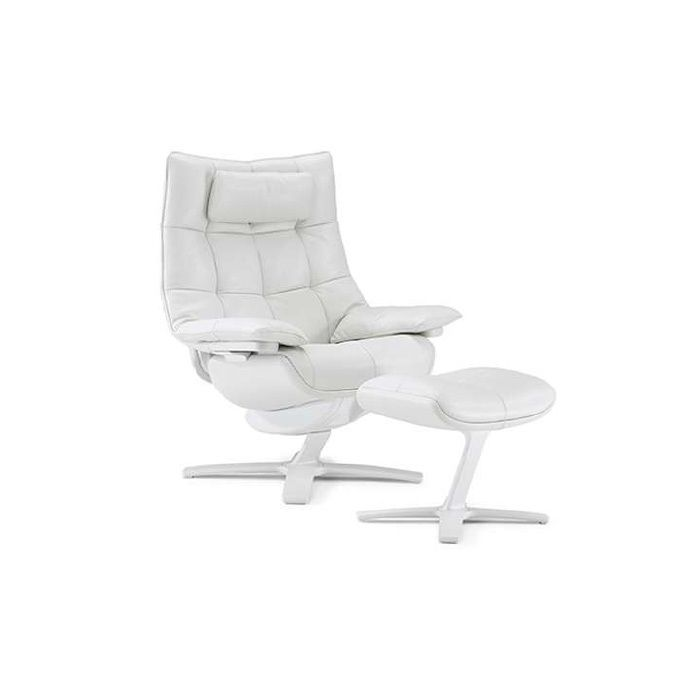 natuzzi lounge chair fold up bed foam quilted with ottoman chairs recliners living king size headrest in 20pa leather