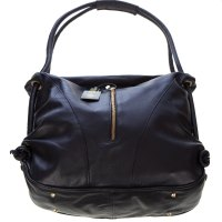 Stephen Italian Made Black Leather Top Handle Designer Handbag