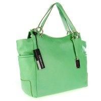 Giordano Italian Made Green Leather Large Designer Shopper ...