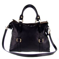 Studiomoda Italian Made Black Leather Large Designer