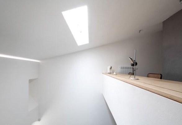 italian interior minimal white kitchen, Italian home interior