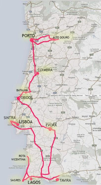 PORTUGAL 2 WEEKS-MAP