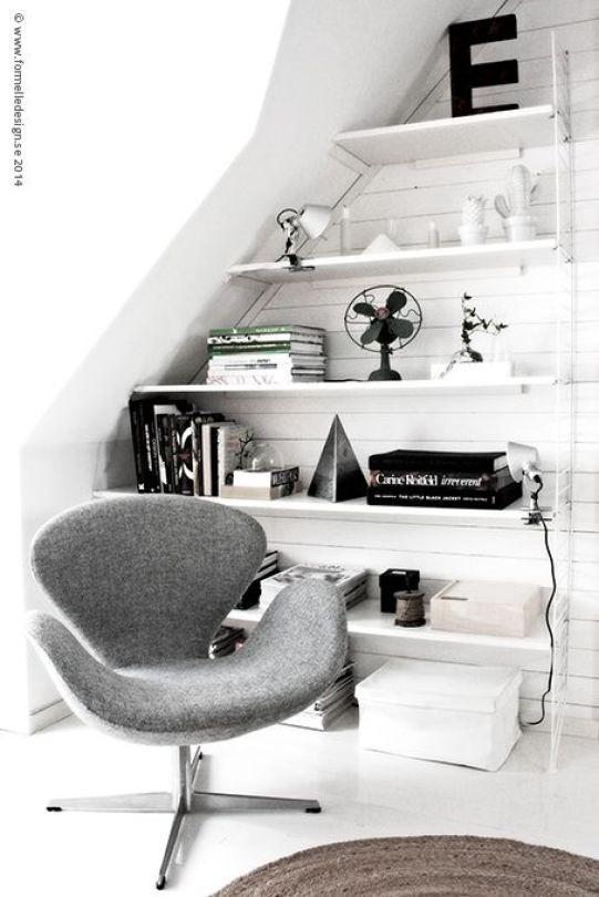cozy-reading-corner-swan chair-grey-ITALIANBARK