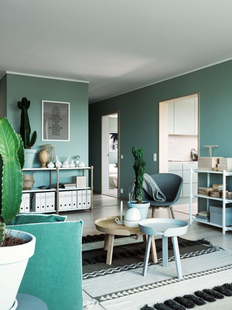 Green wall paint interior trend italianbark Green wall color