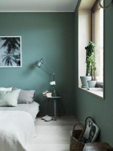 Green Wall Paint Green Paint Dark Green Wall Green Interior Trend