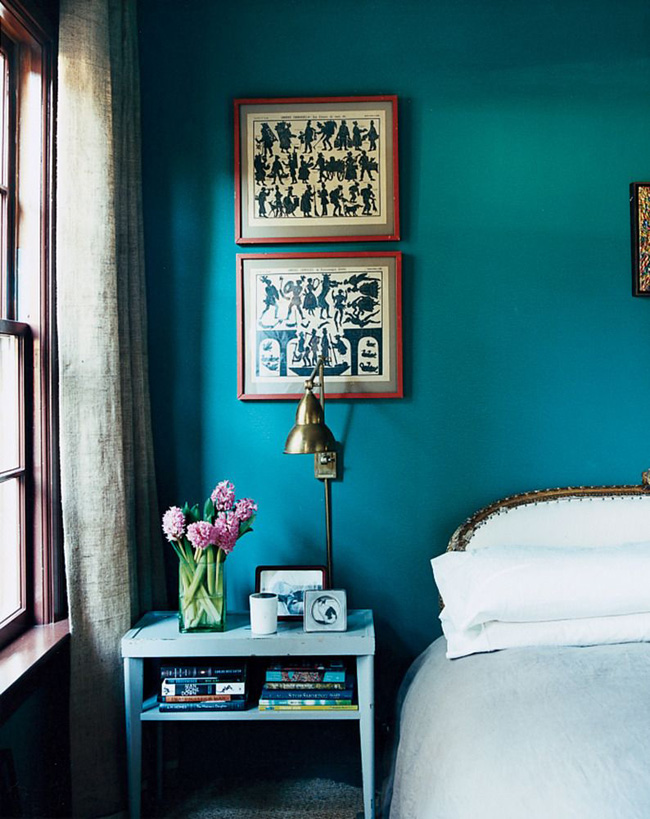 Teal Paint Interior Trend