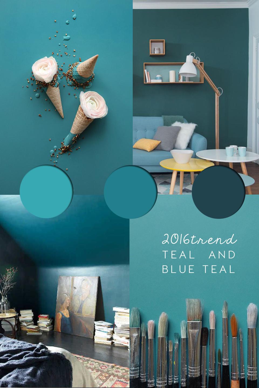 Teal paint interior trend  ITALIANBARK interior design blog