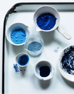 blue interior trend - blue interiors - blue walls - colour trends 2017 - colour 2017 - denim drift - colour of the year 2017 - blue paint trend -