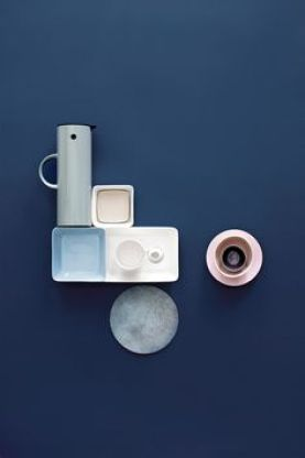 blue interior trend - blue interiors - blue walls - colour trends 2017 - colour 2017 - denim drift - colour of the year 2017 - blue paint trend - moody blue
