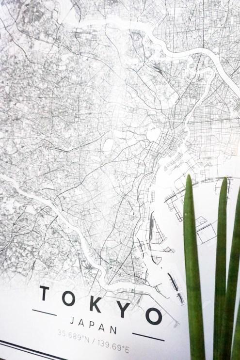 mapiful, custom poster map, italianbark interior design blog, original lightbox, tokyo poster