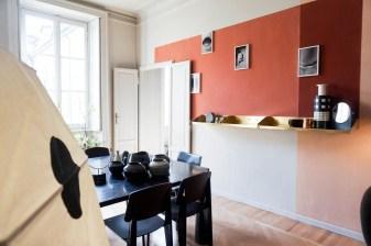 the visit studiopepe, brera design apartment, studiopepe milan design week, fuorisalone 2017, italianbark interior design blog, , black design table