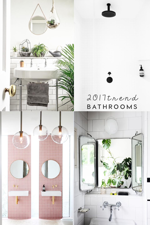 interior trends small bathroom trends 2017. Black Bedroom Furniture Sets. Home Design Ideas