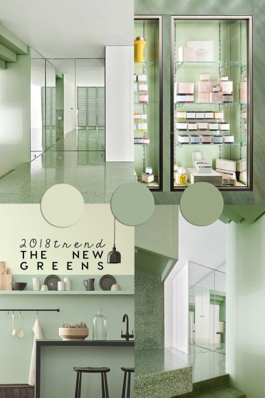 interior color trends 2018, home decor colors 2019, green interiors, pastel trends, imm cologne 2018, italianbark