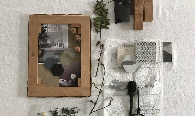 wabi sabi decor, minimalist neo rustic moodboard, japandi, scandinavian style italianbark