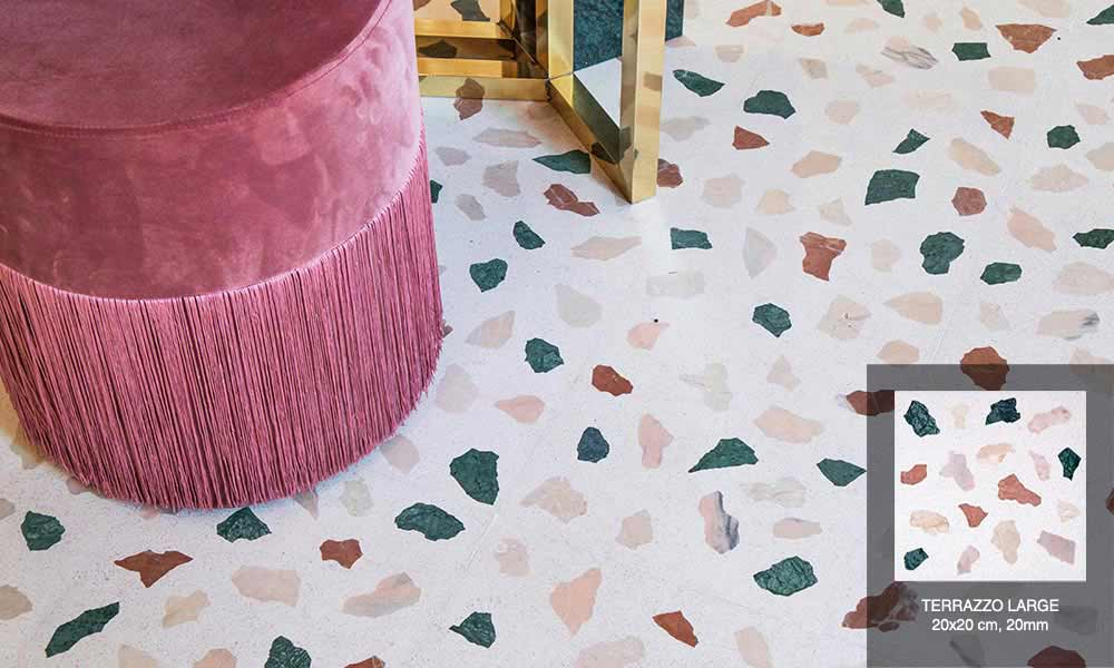 new cement tiles and terrazzo trend for