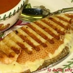Fontina Asiago Grilled Cheese Panini and Creamy Tomato Basil Soup
