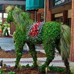 Garden Topiaries! Out and About At The Annual SC Festival of Flowers