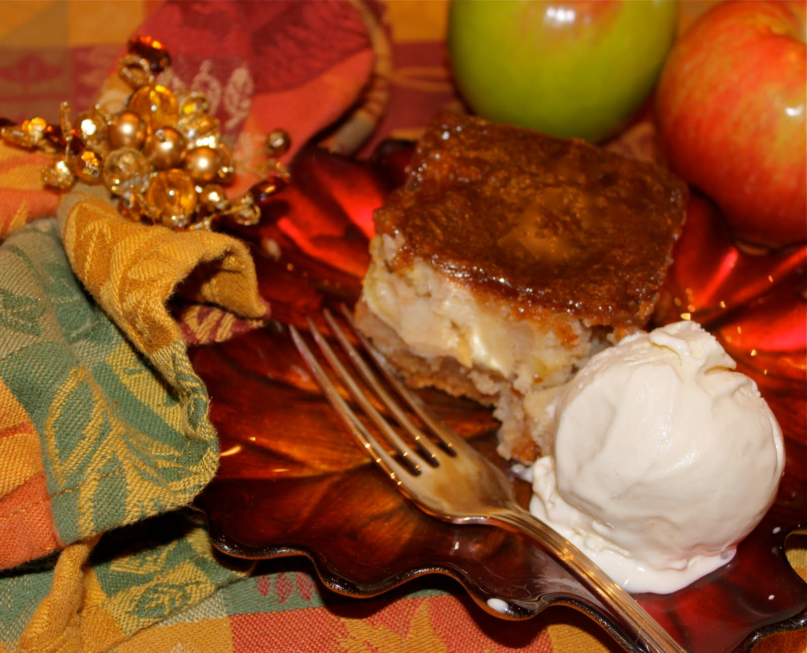 Caramel Glazed Apple Cake - La Bella Vita Cucina