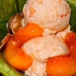 Fresh Peach Ice Cream