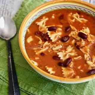 Minestra di Pasta e Fagioli (Pasta and Bean Soup)