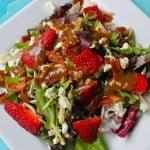 Spring Salad with Strawberries and Balsamic Vinaigrette