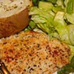 Parmesan, Garlic and Basil Crusted Tilapia