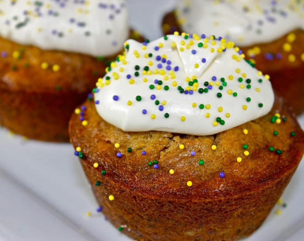 Mardis Gras Bananas Foster Muffins
