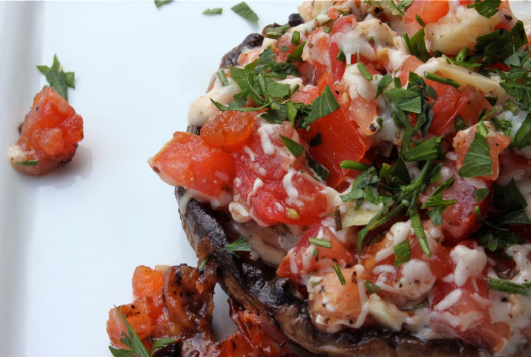 Grilled Stuffed Portobello Mushrooms