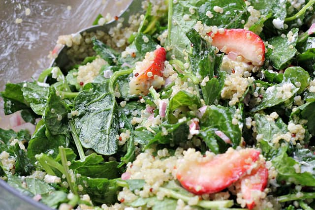 Kale, Quinoa and Strawberry Salad
