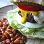Buffalo Beef and Pepper Jack Burgers plus a Tablescape