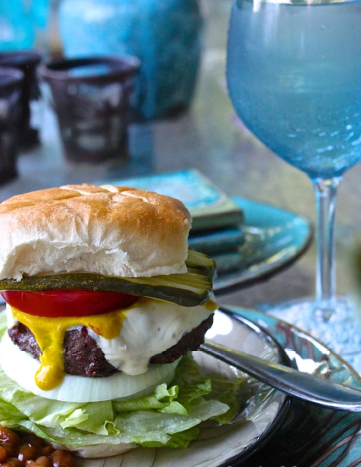 buffalo and beef pepper jack burgers