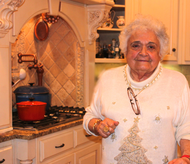 """Bisnonna"" (great-grandmother) in the cucina!"