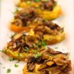 Polenta Crostini Bites with Caramelized Mushroom Cicchetti – Venetian Tapas