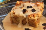 New Orleans Bread Pudding with Caramel Whiskey Sauce