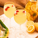 Limoncello and Raspberry Prosecco Cocktails