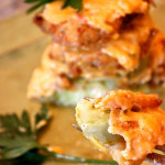 Fried Green Tomato Stacks with Jalapeño Pimento Cheese
