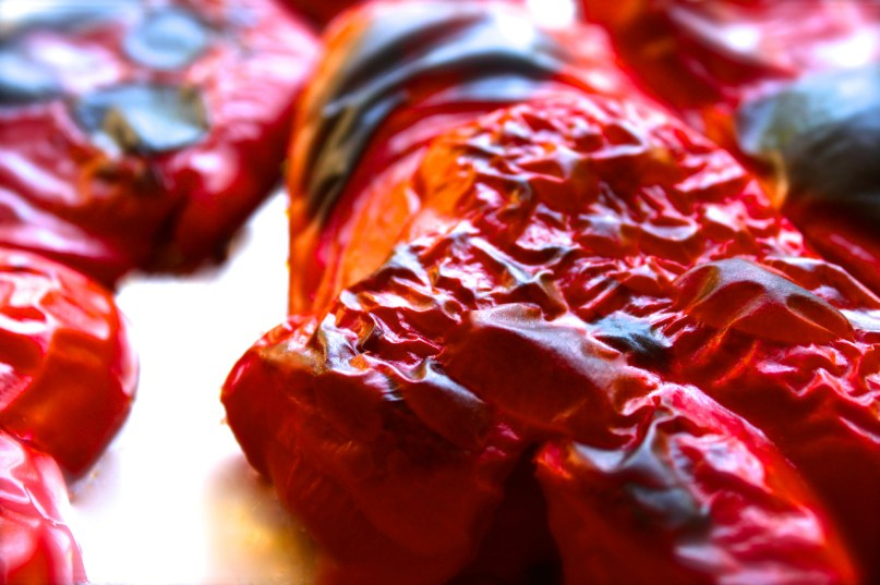 how to roast and freeze red peppers