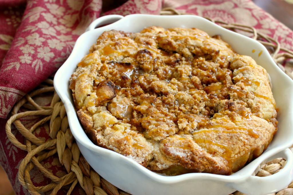 Rustic Apple Crostata with Caramel Streusel