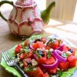 Watermelon, Gorgonzola and Basil Salad