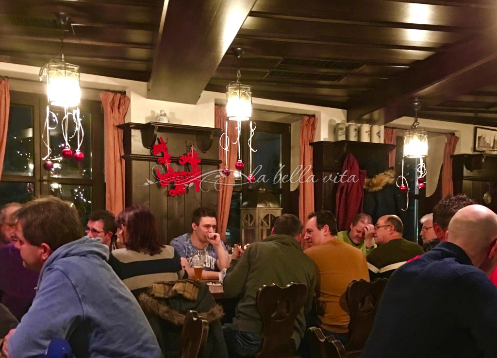 After a long week of work, people are enjoying delicious German beer - - - and it is SERIOUSLY so much better than the beer in the USA!!!!