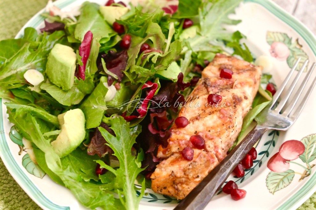 Blood Orange and Salmon Salad with Blood Orange Vinaigrette - La Bella ...