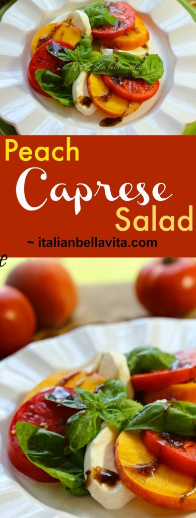 Peach Caprese Salad with Balsamic Syrup