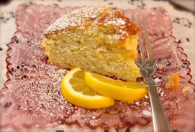 Lemon Polenta Torta with Fruit Compote