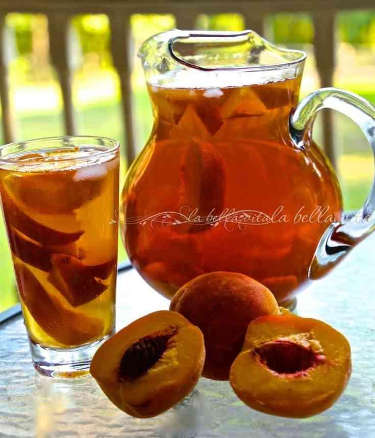 Healthy Peach Green Iced Tea